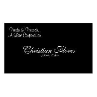 Flores cristiano, abogado en la ley, presto y pre… tarjetas de negocios