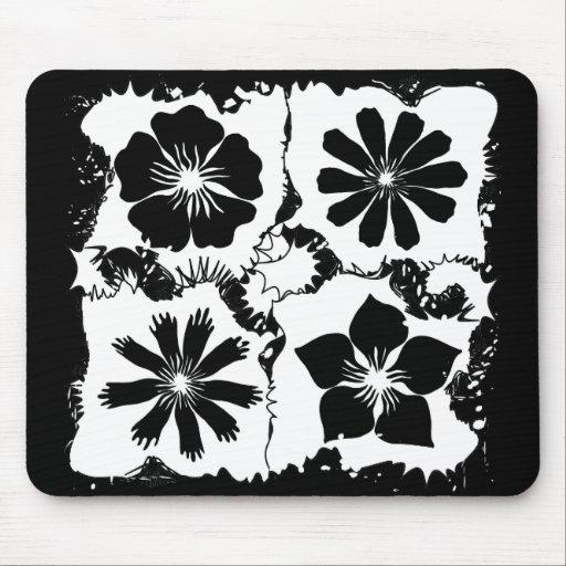 flores cuadradas tapetes de ratones