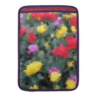 Flores cubistas funda para macbook air