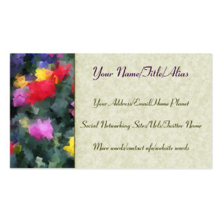 Flores cubistas tarjetas de visita