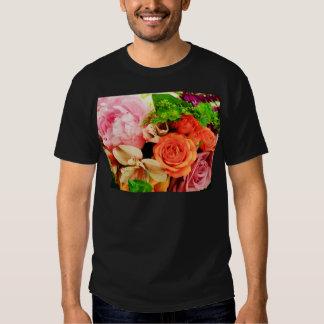 Flores dadas en love_ playera