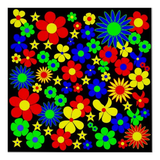 Flores danesas - flora Danica - cuadrado Posters