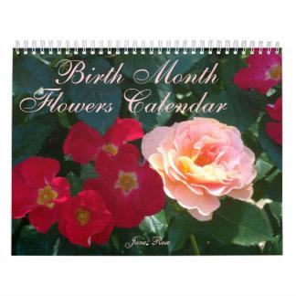 flores de 0 2013 meses del nacimiento calendario de pared