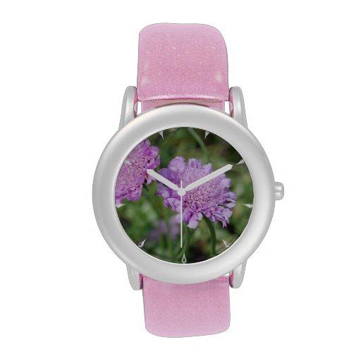 Flores de acerico relojes de pulsera