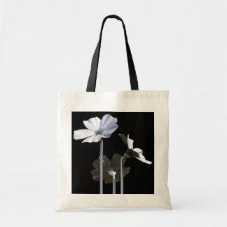 Flores de acero bolsas lienzo