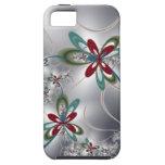 Flores de acero iPhone 5 carcasas