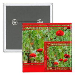 Flores de amapola pin