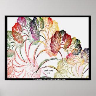Flores de Anderson Indiana Poster