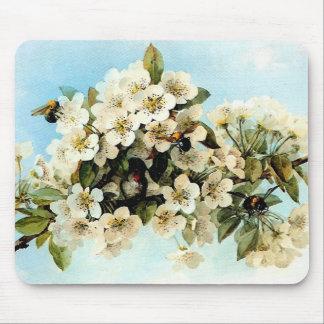 Flores de Apple del vintage Tapete De Ratón