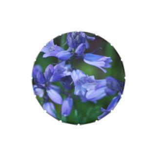 Flores de Bell azules bonitas Frascos De Caramelos