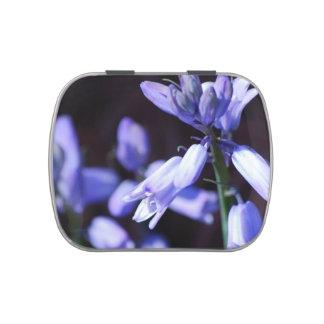 Flores de Bell azules Frascos De Caramelos
