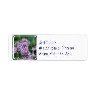 Flores de Bell bonitas Etiqueta De Remitente