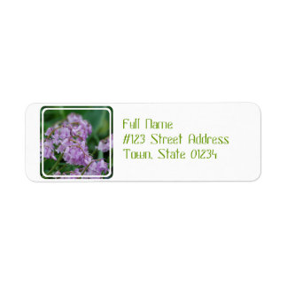 Flores de Bell bonitas Etiquetas De Remite