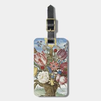 Flores de Bosschaert Etiqueta De Maleta