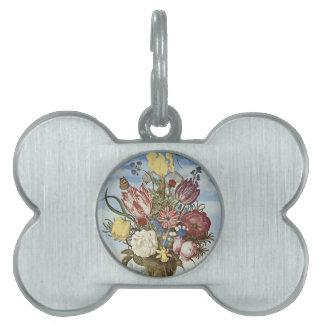 Flores de Bosschaert Placas Mascota