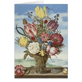 Flores de Bosschaert Tarjeta De Felicitación