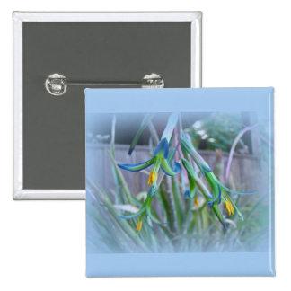 Flores de Bromeliad en azul Pin