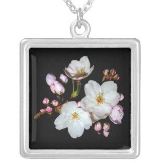Flores de cerezo. 桜 collar plateado