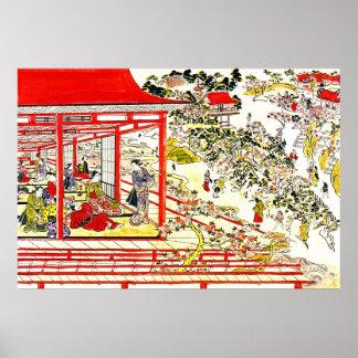 Flores de cerezo 1725 del parque de Ueno Posters