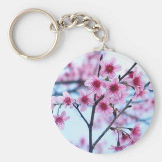 Flores de cerezo - B Llavero Redondo Tipo Pin