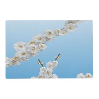 Flores de cerezo blancas tapete individual