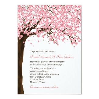 Flores de cerezo/boda de la acuarela de Sakura Invitación 12,7 X 17,8 Cm