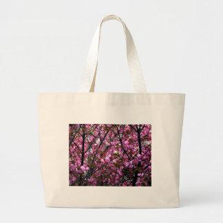 Flores de cerezo bolsa tela grande