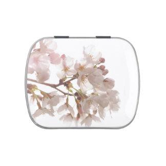 Flores de cerezo bonitas frascos de caramelos