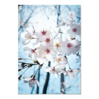 "Flores de cerezo de Asia Invitación 3.5"" X 5"""