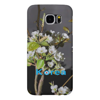 Flores de cerezo de Corea blancas