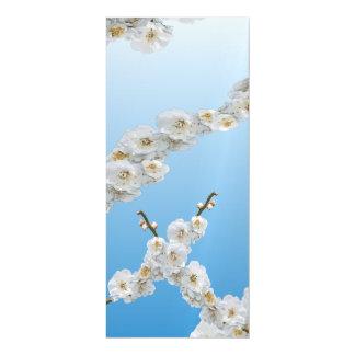 Flores de cerezo de Corea blancas Invitaciones Magnéticas