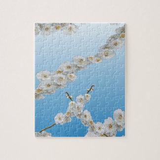 Flores de cerezo de Corea blancas Rompecabeza