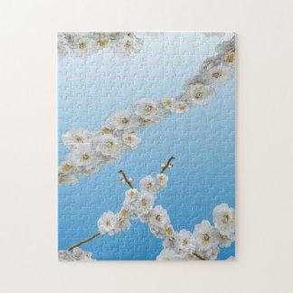 Flores de cerezo de Corea blancas Rompecabezas Con Fotos
