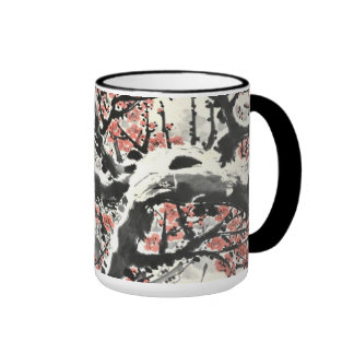 flores de cerezo de la primavera taza de dos colores