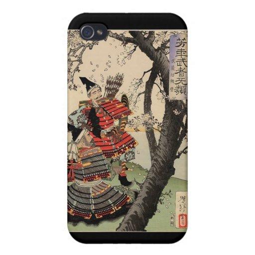 Flores de cerezo de la visión del samurai circa 18 iPhone 4/4S funda