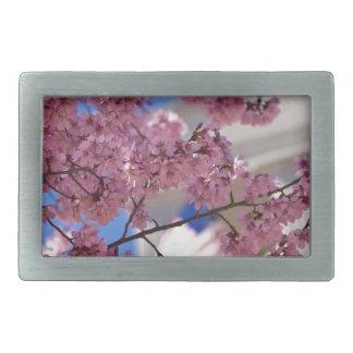 Flores de cerezo de Sakura americana Hebillas Cinturon Rectangulares