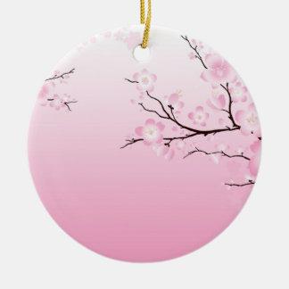 Flores de cerezo ornamentos de navidad