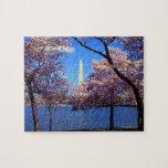 Flores de cerezo del lavabo de marea puzzle con fotos