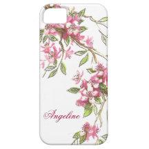 Flores de cerezo del vintage iPhone 5 Case-Mate coberturas