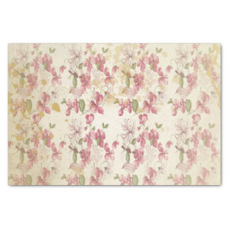 Flores de cerezo del vintage papel de seda pequeño