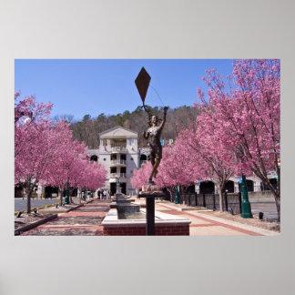 Flores de cerezo en el poster de Arkansas de las a