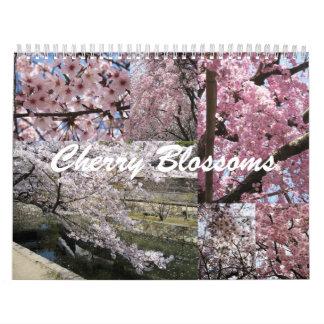 Flores de cerezo en Japón Calendario De Pared
