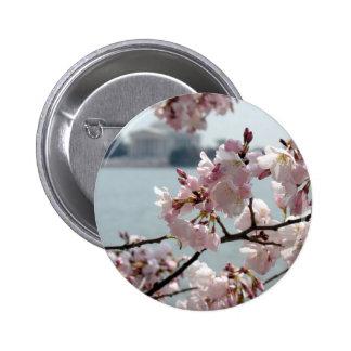 Flores de cerezo en Washington DC Pin Redondo 5 Cm