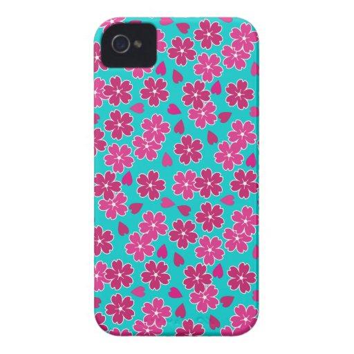 Flores de cerezo encantadoras funda para iPhone 4 de Case-Mate