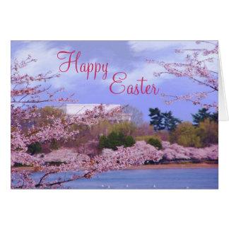 Flores de cerezo felices de Pascua Tarjeta De Felicitación