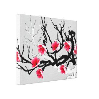Flores de cerezo florales impresion de lienzo