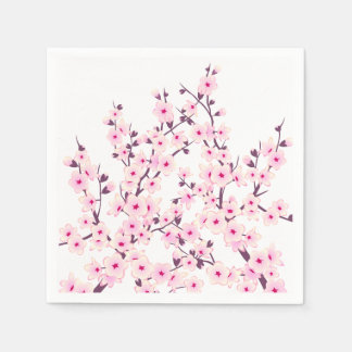 Flores de cerezo florales (Sakura) Servilleta De Papel