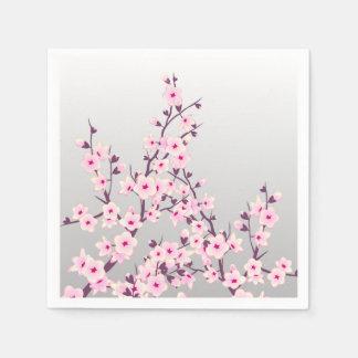 Flores de cerezo florales servilletas de papel