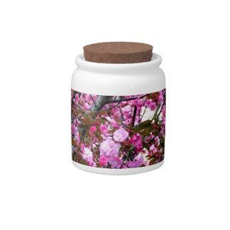 Flores de cerezo jarra para caramelo