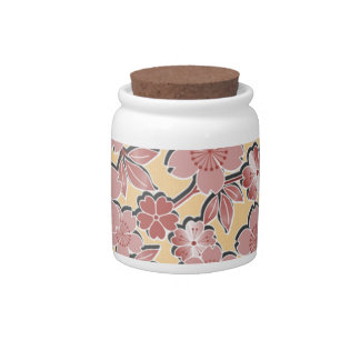 Flores de cerezo hermosas platos para caramelos